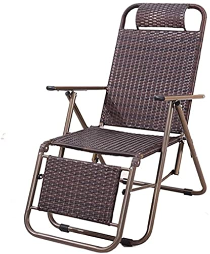 RSTJ Silla de Cubierta Plegable Silla reclinable Playa Sun Tounger Dormitorio Sala de Estar Oficina Nap Lounge Silla Patio Jardín Silla Plegable al Aire Libre (Color : C)