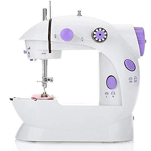 Mini naaimachine, Beginner naaimachine, draagbaar, basic naaimachine, 2 snelheden, makkelijk te gebruiken voor volwassenen en kinderen,
