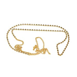 DSD Designer Belly Chain Pearl Gold Plated Wedding Jewellery Kamarband for Women and Girls