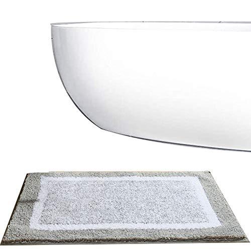 TBATM Baumwollbadematte, Schnelltrocknende rutschfeste Badematte Maschinenwaschbar, Wasserdichtender Badteppich Für Die Dusche Langlebige Fußmatten,B,40x60cm
