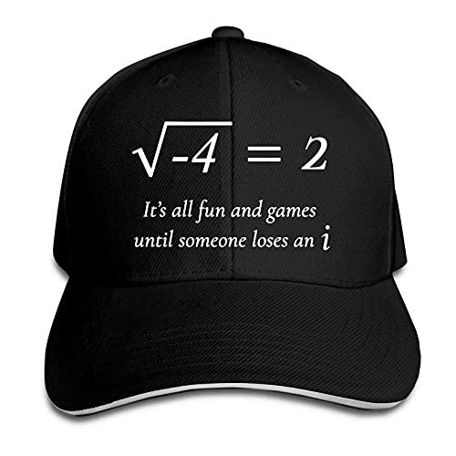Someone Loses an I Funny Math Sandwich Hat Impreso Gorra de Béisbol Unisex Casqueta al aire libre Negro
