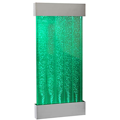 Playlearn Sensory LED Bubble Wall - 4 Ft - 48 Inch Tank - Indoor Wall Mounted Water Feature - APP and Remote Controlled - Large Water Lamp with 8 Changing Colors - Stimulating Home and Office Décor