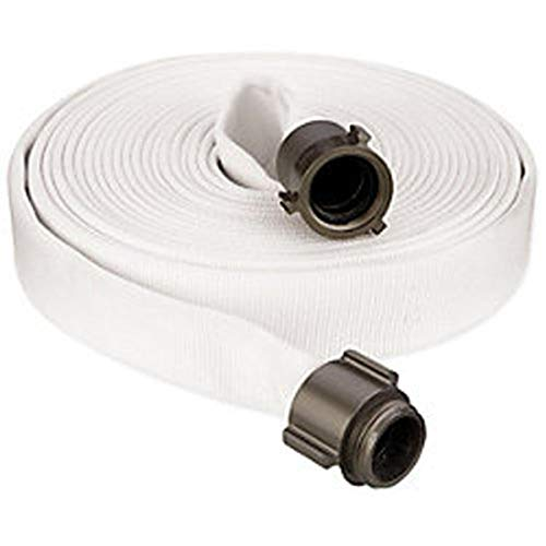 Key Fire Single Jacket Fire Hose, White, 2-1/2