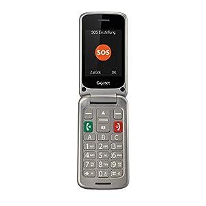 Gigaset GL590 Teléfono Móvil para Mayores con Teclas Grandes - Pantalla de Alta Visibilidad - tecla SOS, Gris