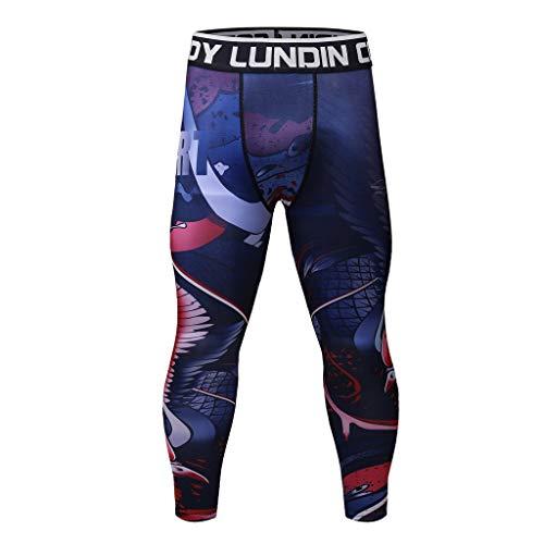 Pantalon de Compression Homme - Sunenjoy Legging de Sport Pantalon Collant pour Fitness Course Professionnelle Tout au Long de la Saison Thermique Pantalon