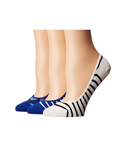 Kate Spade New York Women's Tangier Floral Sock Set, Cobalt Blue, One Size