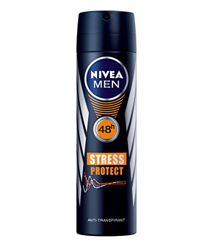 '3 x Nivea Men Desodorante Spray 'estrés Protect 48h, antirreflejos, perspirant – 150 ml