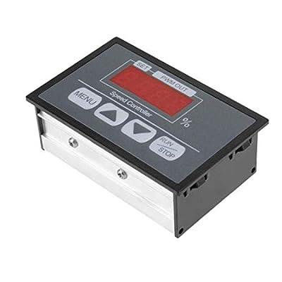 Sydien DC6-60V 12V 24V 36V 48V 30A DC PWM Motor Speed Regulator Power Controller with LED Digital Display, Slow Start/Stop Revolving Speed Time Adjustable