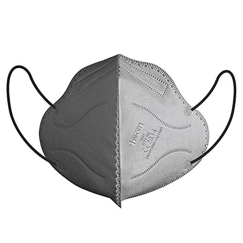 IDOIT 30 Stück FFP2 Maske grau Mund- und Nasenschutz CE zertififizierte Einwegmasken,mit hoher Filteration,atmungsaktiv, hautfreundlich