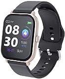 Hngyanp Smartwatch Herzfrequenz Blutdruck Fitness-Armband Wasserdicht Sport-Pedometer Smartwatch Activity Tracker beobachten (Color : Gold)