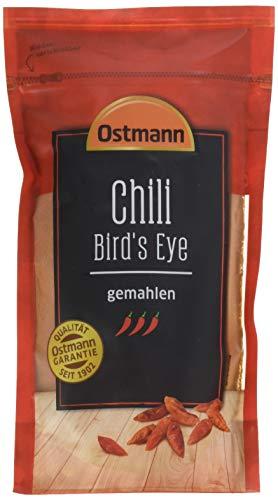 Ostmann Chili Bird's Eye gemahlen 250 g, Chilipulver extrem scharf, feuriges Chiliaroma, ideal für Fleisch- und Pastagerichte