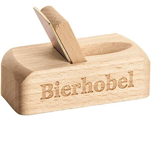 Spruchreif PREMIUM QUALITÄT 100% EMOTIONAL · Flaschenöffner aus Holz mit Gravur · Bierhobel mit Spruch · perfektes Männergeschenk (Bierhobel)