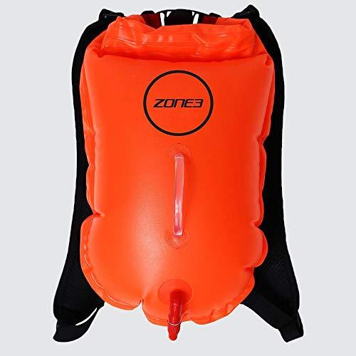ZONE3 Swim Run Mochila Dry Bag Boya de Alta Visibilidad, Naranja, 28 litros