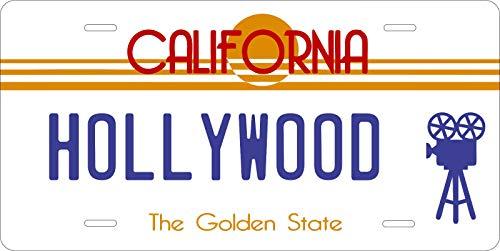 MNUT Placa de licencia de California Hollywood personalizada