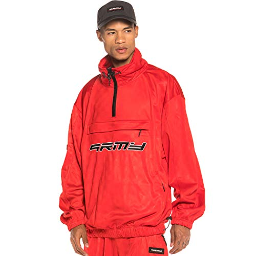 GRIMEY Track Jacket Sighting in Vostok Poly TJ FW19 Red-S
