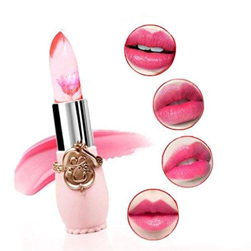 Ularma Lippenstift Lang anhaltende Wasserdicht Blume Feuchtigkeitsfest Fettstift Rosa