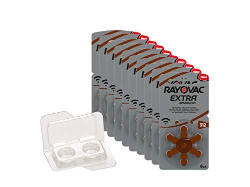 Rayovac Extra Type 312 P312 PR41 ZL3 Piles pour prothèses auditives sans Mercure dans la boîte de Batterie wns-emg-world, 60 pièces