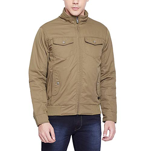 Duke Solid Brown Coloured Cotton Jacket (Size:- M) - ONSDZ653