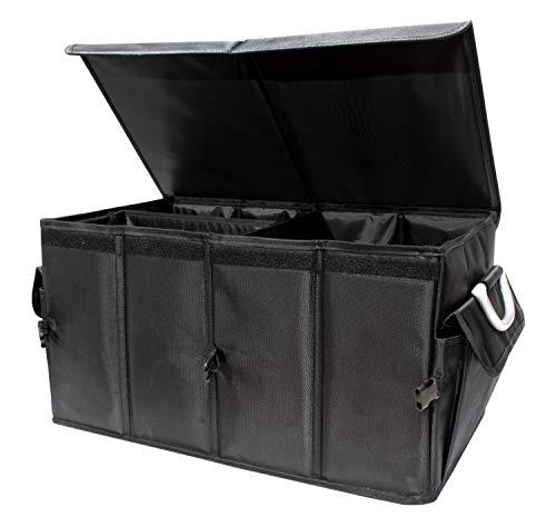 osoltus Kofferraumtasche 60x35x30cm Kofferraum Organizer Carbox faltbar mit Deckel