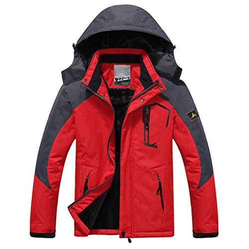 FUTNhot ski-jack voor heren, mountainbike, winddicht, regenjas, waterdicht, hoodie buitenshuis, sneeuwsport, outdoorjas