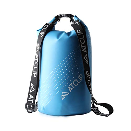 ATCLIP Dry Bag Waterproof 10L - Dry Sack Roll Top Float Dry Bags with Shoulder Straps...