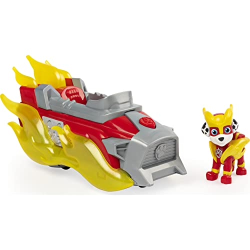 PAW PATROL Mighty Pups Charged Up Marshall's Deluxe Vehicle with Lights and Sounds Vehículo de Lujo de Marshall Cargado con Luces y Sonidos, Color, 0 (Spin Master 6056841)