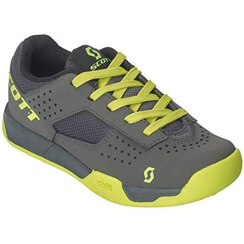 Scott MTB AR Lace kinderfiets schoenen grijs/geel 2019
