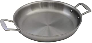 Little Griddle ANYWARE AQ-115 7-Ply USA Crafted Outdoor Indoor Fry Pan with Induction Ready Stainless Steel Cooking Surface, 5-Layer Aluminum Core and Two Helper Handles