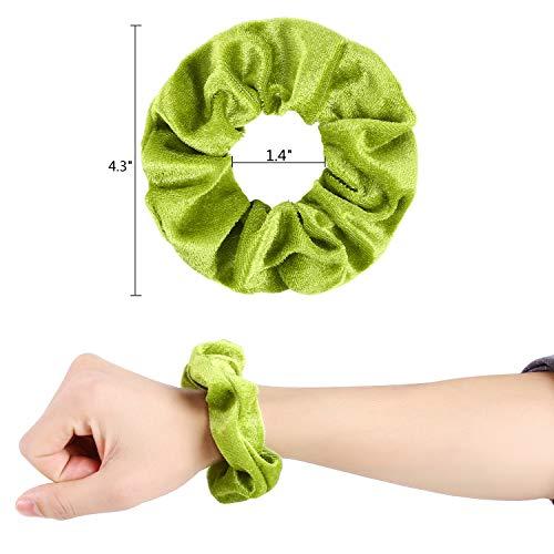 Hair Scrunchies Velvet Silk Chiffron Flower Hair Scrunchies for Women or Girls Hair Accessories |30Velvet Hair Scrunchies+20Satin Hair Scrunchies+16 Chiffron Flower Scrunchies 7