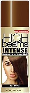 اسپری موقتی پرتوهای High Ridge High اسپری موقتی شدید روی رنگ مو ، قهوه ای ، 2.7 اونس ، 2.7 لیزر اوز