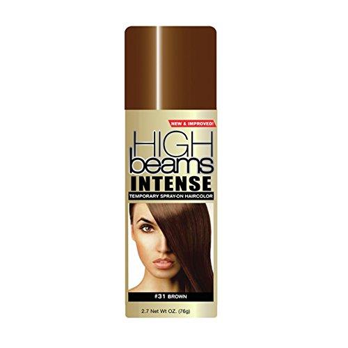 High Ridge High beams intense temporary spray on hair color, Brown, 2.7 Fl Oz
