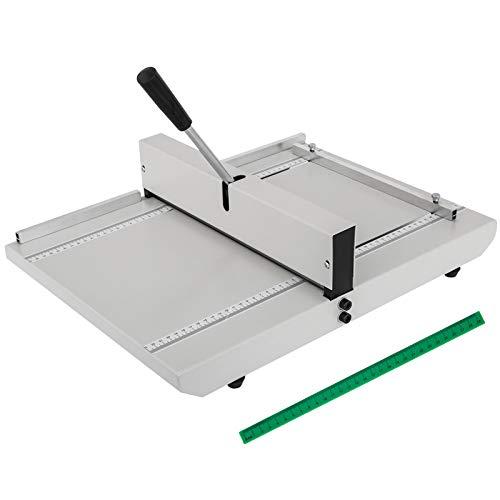 VEVOR Manuelle Nutmaschine Rillmaschine für DIN A4, Falzmaschine Papier 35 cm, Papier Faltende Maschine mit Zwei Blöcken, Rillmaschine mit Rücklaufsperre Schwermetall Crimpmaschine Falzmaschine
