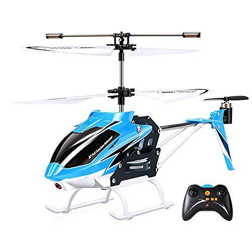 WWSZ Elicottero radiocomandato con Telecomando,RC Elicottero Indoor Outdoor Aereo,Mini Toy Aircraft per Bambini e Adulti Giocattolo da Interno per Ragazzi e Ragazze Regalo di Natale