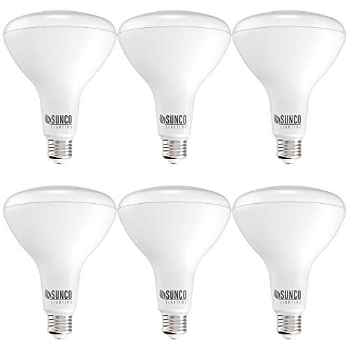 Sunco Lighting 6 Pack BR40 LED Bulb, 17W=100W,...