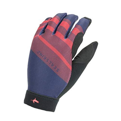 SealSkinz Solo Super Thin MTB Glove, Navy Blue/Red/Black, L