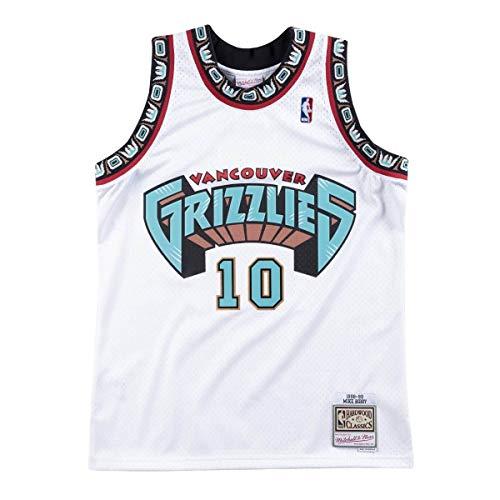 Mitchell & Ness Vancouver Grizzlies Mike Bibby 1998 Home Swingman Jersey (Medium)
