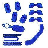 DronePost Set Azul Xiaomi Mijia M365 Tapas Anti-Polvo Tapa del Cargador Pegatinas Reflectantes Cubierta Palanca Cojínes Amortiguador (Tapas|Pegatinas|Cojínes|Cubierta|Set-3)