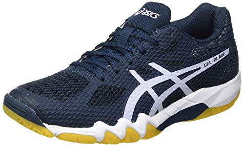 Asics Gel-Blade 7, Indoor Court Shoe Mujer, French Blue/Lilac Opal, 40 EU
