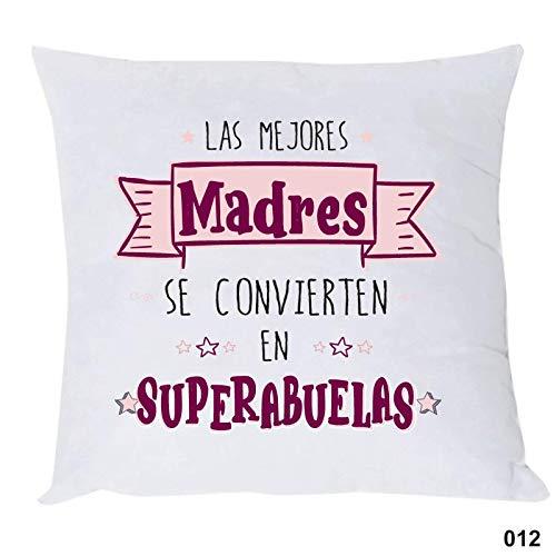 COJIN con Frase Las Mejores Madres SE CONVIERTEN EN Super Abuelas Regalo para MAMÁ Y Abuela.Regalo Dia DE LA Madre.