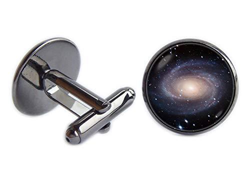 Spiral Galaxy Boutons de manchette Manchette Système solaire astronomie Boutons de manchette