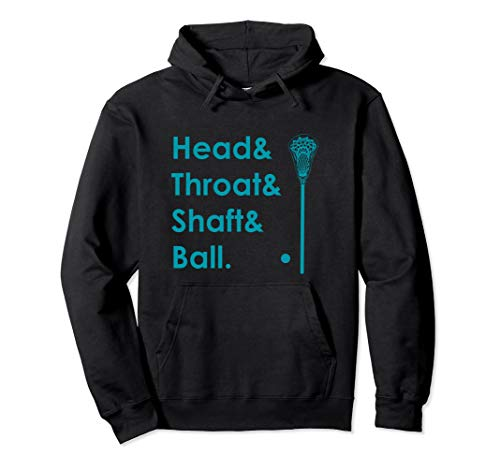 Funny Lacrosse Shirt Men Teal Head & Throat Shaft Ball LAX Pullover Hoodie