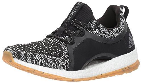 adidas Women's Pureboost X ATR Running Shoe, Black/White/Black, 10 Medium US