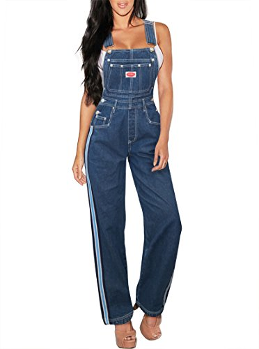 Revolt Damen Plus Größe Jean blue Denim -overalls Medium Pvj6115-2.-Dark Wash