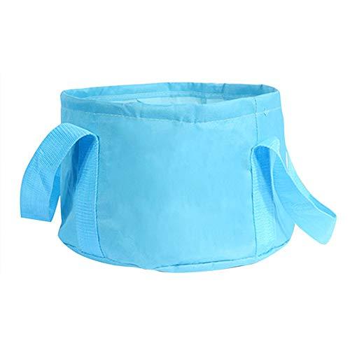 Kylewo Opvouwbare wastafel voetbad badkuip waterzak doek watervat voor kamperen, reizen, wandelen, vissen Small Bule.