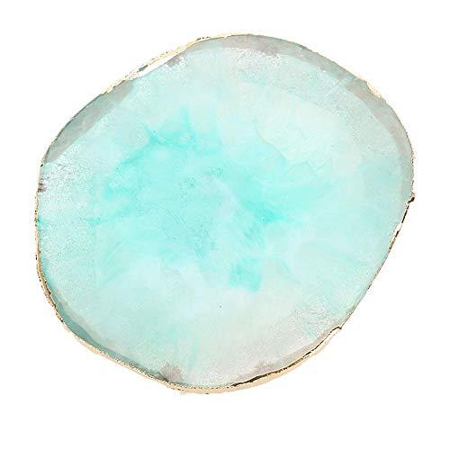 Nail Art Palette, Resin Nail Art Palette Farbe Zeichnung Farbe Dish Golden Edge Maniküre Nail DIY Tool zum Auftragen von Nagellack(05)