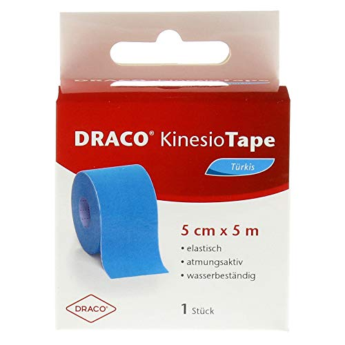 Draco Kinesiotape 5 cmx5 m türkis, 1 St