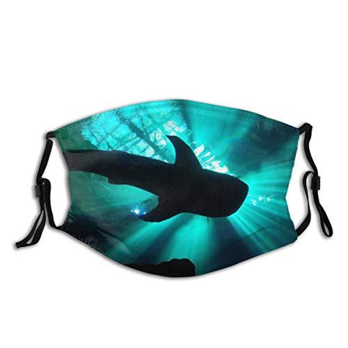 Popsastaresa Ein Walhai in einem Aquarium, unter leuchtenden Crepuscular Strahlen,Staubwaschbarer wiederverwendbarer Filter und wiederverwendbarer Mundschutz gesicht