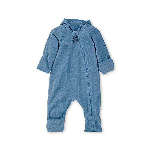 Sterntaler Fleece-Overall für Jungen und Mädchen mit Reißverschluss, Alter: 6-9 Monate, Größe: 74, Mittelblau