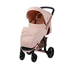 Stylish ultra-modern pushchair, padded removable front bar, one hand easy fold technology, hood includes storage pocket Extendable 3 position canopy, multi-position backrest adjustment on strap, 2-position adjustable leg rest, great on the go being l...