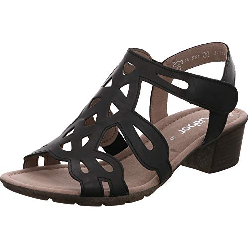 Gabor Damen Sandalen, Frauen Riemchensandalen,Best Fitting, Lady Ladies feminin elegant Women's Women Woman Freizeit leger,schwarz,39 EU / 6 UK